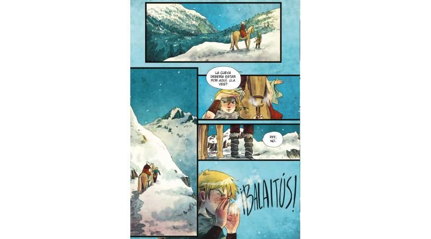 Cómic Vuelve Zilia, la guerrera de los Pirineos. JESÚS JIMÉNEZ (@vinetabocadillo)